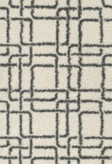 Aledin Carpets Casablanca - Hoogpolig - Vloerkleed 160x230 cm - Shaggy - Wit Grijs