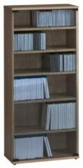 Bermeo CD DVD kast Maya M 110 cm hoog in sonoma eiken