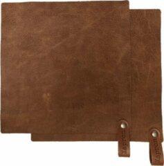 Xapron leren pannenlappen Utah - kleur Rust (roest) 2 stuks