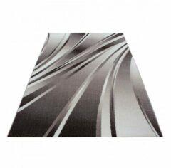 Ayyildiz Parma Design Vloerkleed Bruin / Beige Laagpolig - 80x300 CM