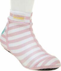 Duukies - Meisjes UV-strandsokken - Baby Pink - Roze gestreept - maat 30-31EU