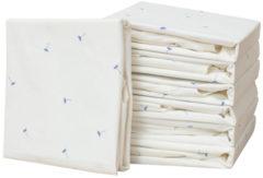 Blauwe Taftan - Hello World - Hoeslaken voor ledikant 60 x 120 cm