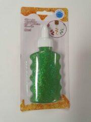 Glitterlijm groen, 80 ml craft @kindercrea
