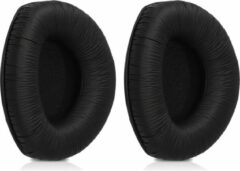 Kwmobile 2x oorkussens voor Sennheiser RS160 / RS170 / RS180 koptelefoons - imitatieleer - voor over-ear-koptelefoon - zwart