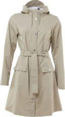 Rains Curve Jacket 1206 Regenjas Vrouwen - Beige - Maat L/XL