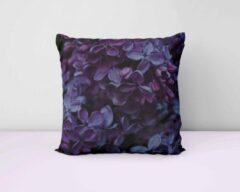 ByCristianne Sierkussen - Paarse bloemen - Woon accessoire - 60 x 60 cm