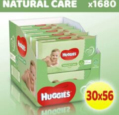 Huggies Billendoekjes Babydoekjes Natural Care Voordeelverpakking - 1680 Stuks