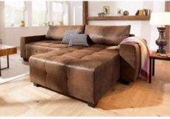 Home affaire Ecksofa «Bella», wahlweise mit Bettfunktion und Bettkasten; feine Steppung im Sitzbereich