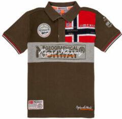 Kaki Polo Shirt Korte Mouw Geographical Norway KIDNEY