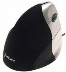 BakkerElkhuizen Bedrade Verticale Muis Evoluent3 Optisch voor Rechtshandige gebruikers 2 m USB-A kabel Zwart, zilver