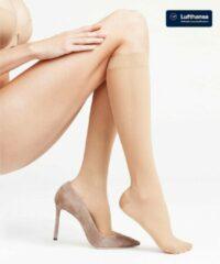 Beige FALKE Leg Energizing 30 Dames Steunkniekous 41763 - Huidskleur 4069 powder Dames - 39-40