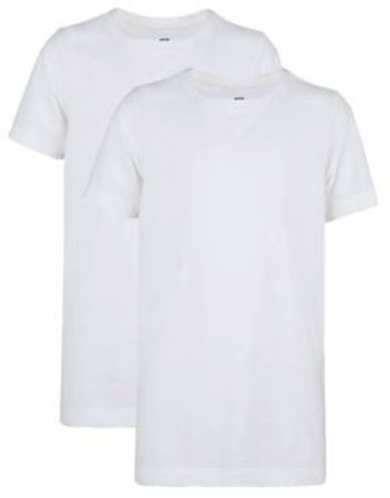 Afbeelding van Witte WE Fashion Jongens basic T-shirt, 2-pack