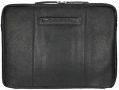 Zwarte Chesterfield Richard lederen laptop sleeve hoes zwart voor 13 inch laptops