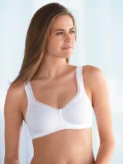 Witte Susa Gevormde BH zonder beugel Organic cotton Grote maten bh 95B