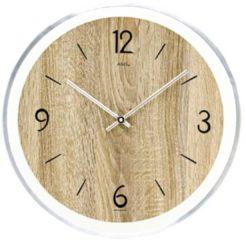 AMS ronde houten wandklok met quartz-uurwerk