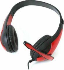 PLATINET OMEGA FREESTYLE Hoofdtelefoon + Microfoon pc GAMING FH4008R Rood