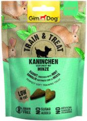 Gimdog Train & Treat 125 g - Hondensnacks - Konijn&Munt
