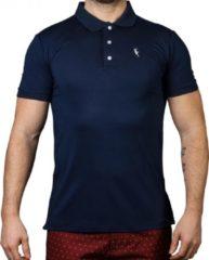 Donkerblauwe Sanwin Beachwear Pompano Pompano Heren Poloshirt Maat XL