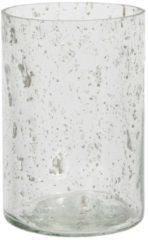 Clayre & Eef Glazen Theelichthouder 6GL2996 Ø 10*15 cm - Transparant Glas Waxinelichthouder Windlichthouder