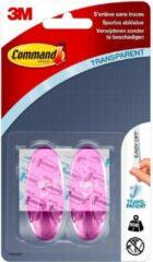 Command™ Haak Ovaal, 17091CLP, transparant roze, middelgroot, 2 haken, 4 strips, 900g