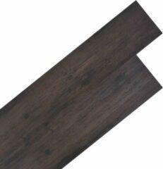 VidaXL Vloerplanken 5,26 m² 2 mm PVC donkergrijs eiken