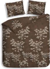 Bruine Heckett & Lane Flanel Dekbedovertrek Charlotte - Chocolate - 1-persoons 140x200/220 Cm