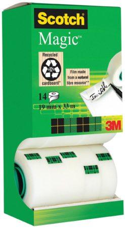 Afbeelding van Scotch Magic Plakband Transparant Onzichtbaar bij het kopiëren beschrijfbaar 19 mm x 33 m 12 rollen + 2 rollen gratis