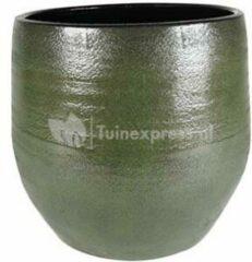 Donkergroene Ter Steege Pot Zembla groen bloempot binnen 32 cm