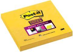 Post-it Super Sticky notes formaat 76 x 76 mm geel blok van 90 vel