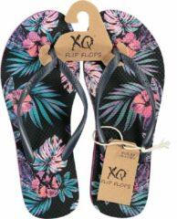 Xq Footwear Teenslippers Dames Polyester Zwart/roze Maat 40