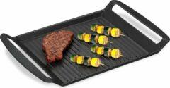 Antraciet-grijze Relaxdays grillplaat fornuis - grillpan - Teppanyaki - bakplaat - anti-aanbak - antraciet