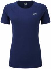 Marineblauwe Dhb Aeron hardloopshirt voor dames (korte mouwen) - Hardloopshirts (korte mouwen)