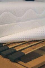 Witte Optinop matrasbeschermer 90x210/220 cm