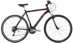 Cicli Cinzia 28 ZOLL CINZIA FITNESS MAN Trekking Fahrrad ALUMINIUM 21-GANG Herren matt-schwarz