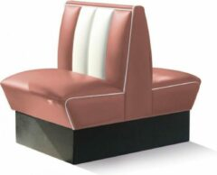 Roze Bel Air Dinerbank double Booth HW-70DB Dusty Rose