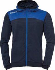 Marineblauwe Kempa Emotion 2.0 Hooded Sportjas - Maat XL - Mannen - navy/blauw