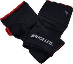 Bruce Lee boksbandages met gel Easy Fit zwart/rood maat L/XL