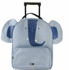 Trixie Reiskoffers Travel Trolley Mrs. Elephant Blauw