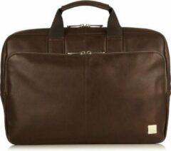 Bruine Laptoptas Knomo Newbury Leather Briefcase 15 inch