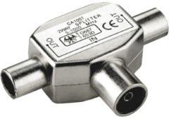 Goobay Adapter Koaxial-Verteiler 2x Stecker auf Kupplung Goobay Silber