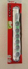 Legrand Drehbare Steckdosenleiste 6-fach weiss-grau Kindersicherung, Energieverbrauchsanzeige Master-Slave