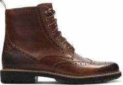 Clarks Batcombe Lord Veterboots Heren - Dark Tan Leather - Maat 46