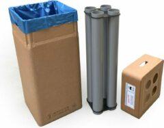 Naturelkleurige Afvalbox met beker-inzamelsysteem voor bekerdiam. 70 mm