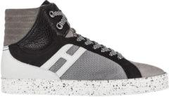 Grigio Hogan Rebel Scarpe sneakers alte uomo in camoscio rebel r141 basket