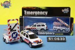 Witte Kids Globe Politie Volvo met bebakening incl. verlichting - Speelgoedvoertuig: 26 cm
