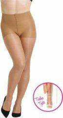 Naturelkleurige NOMI Bodywear NOMI Shapewear - Corrigerende Panty 10D, Zonder Tenen voor Open Schoenen - Natural - Maat S
