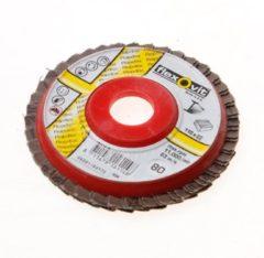 Klusgereedschapshop Flexovit Vlaklamellenschijf FI FLD FDSP diameter 110 x asgat 22mm P80