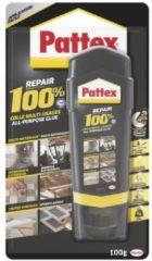 Transparante Pattex alles-in-een 100 procent repair lijm - 100 gram - contactlijm / reparatielijm