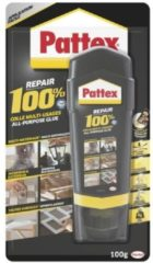 Transparante Merkloos / Sans marque Pattex alles-in-een 100 procent repair lijm - 100 gram - contactlijm / reparatielijm