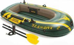 Intex Opblaasboot Seahawk 2 Tweepersoons Groen 236 X 114 X 41 Cm
